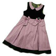 高級ベロアのノースリーブドレス(濠Du)100-110cm