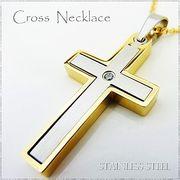ステンレス ネックレス 十字架 クロス シルバー ゴールド レディース メンズ アクセサリー