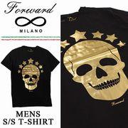 ◇2017春夏新作◇Forward Milano フォワードミラノ ブラック Tシャツ<GOLD SKULL><ラスト5点>