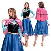 【即日発送】エルサ アナと雪の女王 ロング丈ドレス 大きいサイズ有  プリンセス ハロウィン衣装【4813/2】