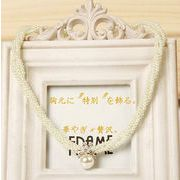【一部即納】ネックレス パール ラインストーン 3連 ショートネックレスアジャスター 真珠 パーティー
