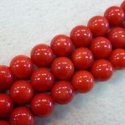 赤サンゴ6ミリ1連売り レッドコーラル 赤サンゴ サンゴ 珊瑚 天然石 パワーストーン 手作り