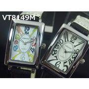 VITAROSOメンズ腕時計 PUレザーウォッチ 日本製ムーブメント