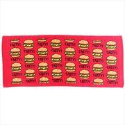 《売れ筋》TASTY BURGER プリントロング TOWEL/ハンバーガー