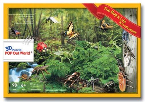 《sale》 3Dパズル THE Bug`S LIfe 昆虫