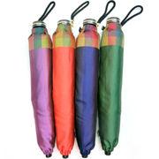 【日本製】【折りたたみ傘】甲州産先染め格子コンパクト骨日本製折畳み雨傘