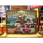 アメリカンブリキ看板 Chevy/シボレー トラックへの賛辞