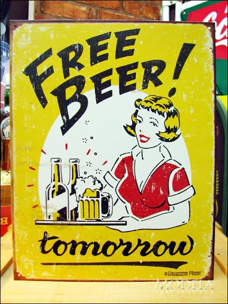 アメリカンブリキ看板 キュートなビールイラスト 雑貨 株式会社モデラ