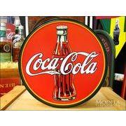 アメリカンブリキ看板 コカ・コーラ 1930年代ボトル&ロゴ
