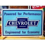 アメリカンブリキ看板 シボレーロゴ -CHEVROLET-