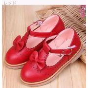 春 新しいデザイン 韓国風 女児 革靴 児童 ピーズ靴 リボン プリンセスの靴 靴 赤ち