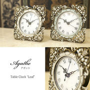 【置時計】アガットテーブルクロック♪リーフ♪