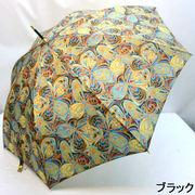 【日本製】【雨傘】【長傘】日本製ポリエステル蝶花プリント軽量ジャンプ雨傘