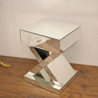 【ミラー家具】 コンソール 鏡 ディスプレイ台 サイドテーブル(直送可能)