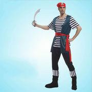 激安☆仮装★ダンス衣装★ハロウィン★cosplay★海賊★頭巾 +シャツ+靴付ズボン+ベルト