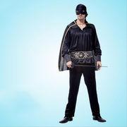 激安☆仮装★ダンス衣装★ハロウィン★cosplay★ゾロ★頭巾+マント +アイマスク+シャツ+ズボン+ベルト