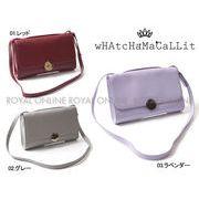 【ワチャマコリ】 WM-031 ショルダーレザーバッグ 鞄 かばん 全3色 レディース