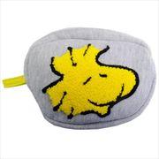 《新生活》スヌーピー サガラ刺繍 フェイスポーチ/ウッドストック