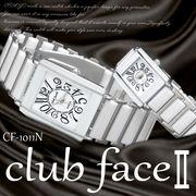 【選べるケース有or無】 club face 腕時計 ペアウォッチ 男性用 女性用 軽量 ウォッチ◇CF-1101N
