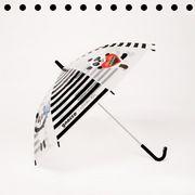 【gnocco】肉球ストッパービニール傘【ボーダーパンダ】子供サイズ