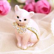 【限定SALE】宝石箱 ジュエリーボックス 【ピンクキャット】