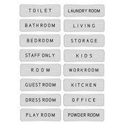 ドアプレート メタルプレート ドアサイン Aluminum Door Sign-Silver トイレ オフィス 部屋 表札