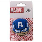 《おもちゃ》キャプテンアメリカ ぬいぐるみフェイスバッジ/MARVEL×GuRiHiru