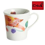 「にゃん屋」★モコ猫マグカップ ピンク(1個箱入り)