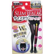 [4月26日まで特価]スリムウォーク サイズダウン シアータイツ ブラック M-Lサイズ
