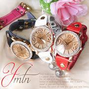 【選べるケース有or無♪】◇ 腕時計 ジルコニア 革バンド ウォッチ レディース◇YT-7013