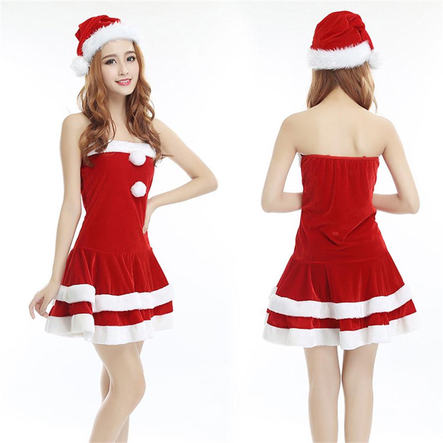 ワンピース レッド コスチューム 変装 クリスマス衣装 ベロア調 ワンサイズ