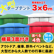 タープテント3X6m 3面横幕付