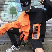 新作 秋冬 アウター ジャケット トップス シャツ 切り替えカラー