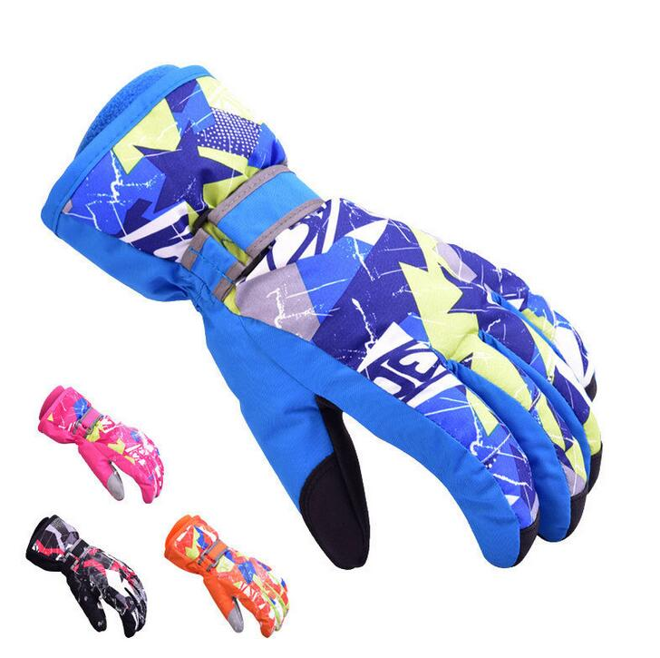 キッズグローブ スキー スノボ グローブ 子供用 手袋 防寒 防水 撥水 防風 暖かい レディース