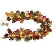 東洋石創 クリスマス飾り ナチュラルLEDガーランドレッド