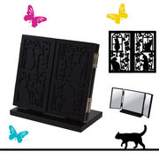 黒猫三面鏡 (卓上タイプ) 【 ディアキャッツシリーズ 】