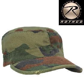 正規品 ロスコ ミリタリーキャップ ROTHCO VINTAGE FATIGUE CAP (ウッドランドカモ)