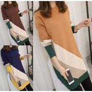 レディースワンピース 3色 チュニック 厚手  ニットワンピース  セーター お洒落  ロングセーター
