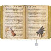 ヂャンティ商会 オルゴール ブック型プーリーオルゴール 楽譜(ノクターン)
