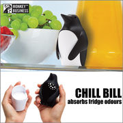 【アントレックス】冷蔵庫の嫌な匂いを食べちゃう可愛いペンギン!【チルビル ペンギン デオドライザー】