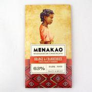 メナカオ ダークチョコレート63% オレンジ&クランベリー 75G