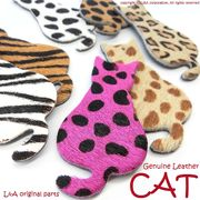 ▼SALE▼L&A original parts★本革製品★Genuine Leather★アニマル柄のCAT★