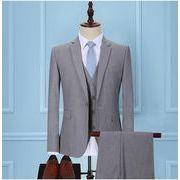 新品 ハイエンド  5点セットスーツ 結婚式メンズファッション 披露宴 通勤 フォーマル スリーピーススーツ
