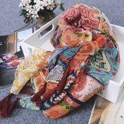 レディースファッション スカーフ ストール ひざ掛け 薄手 シンプル オシャレ