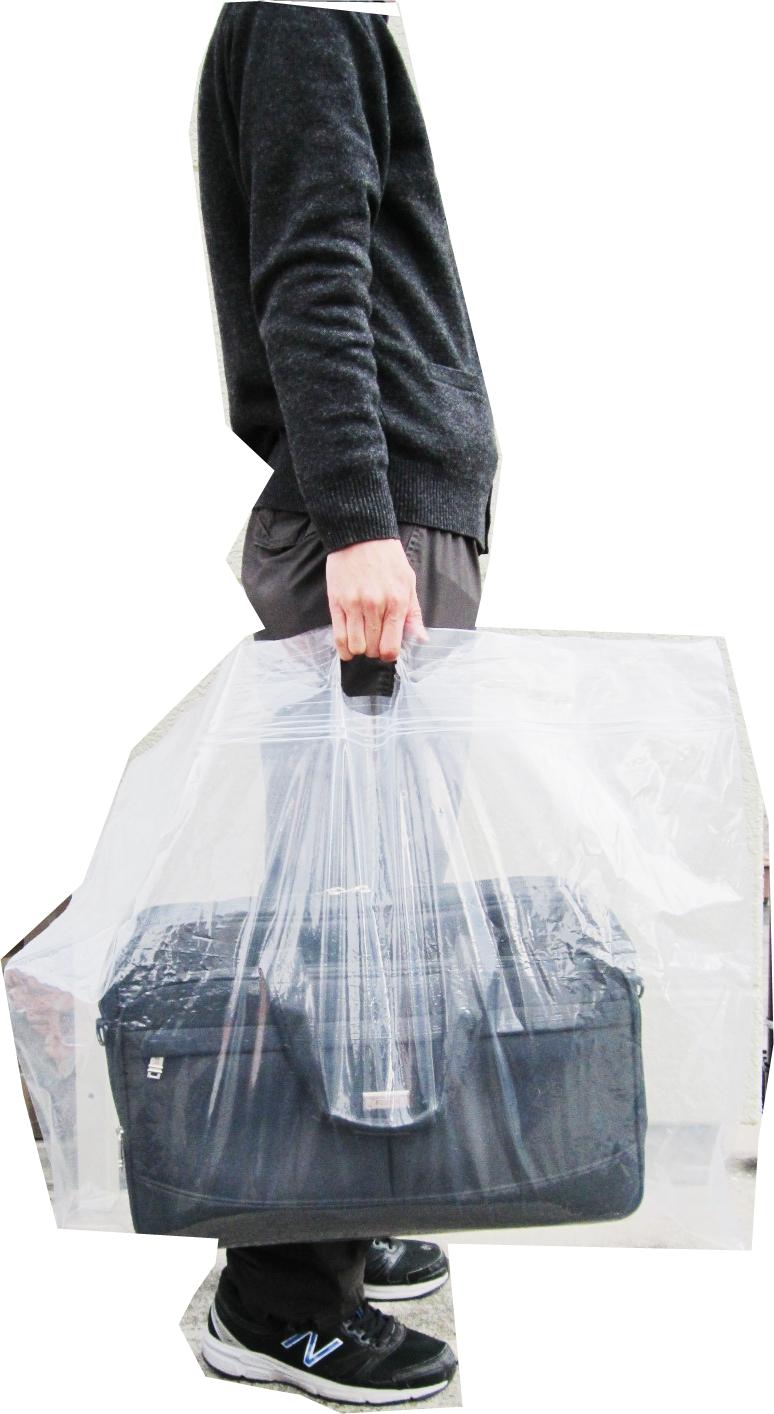 バッグ 新作  メンズ ビニールバッグ 中身が濡れない 整理収納 大きなビニール袋 大袋Lサイズ