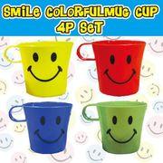 OK:スマイルカラフルマグカップ【4色アソートセット】
