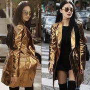 コート 無地 純色 スリム ファッション #708778
