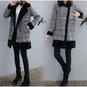 レディースアウター カーディガン コート もこもこ 暖かい ジャケット チェック柄 人気 ファッション