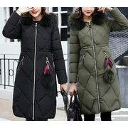 ダウンジャケット ワッペン 防寒保暖 モコモコネック 毛襟 フード付き 韓国風 スリム 全7色 r3001645