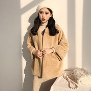 アンティーク調 秋冬バージョン 単一色 ふわふわ ルース 何でも似合う ビッグ袖 丸襟
